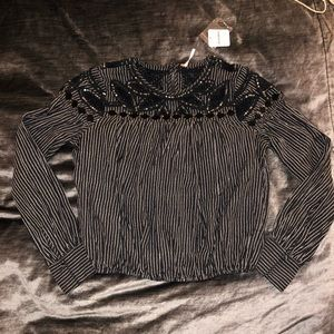 Free people embroidered blouse NWT